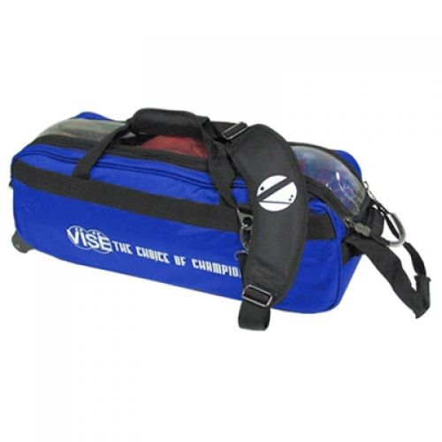 Vise Grip 3-Ball Clear Top Tote Roller blue