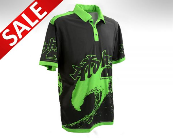 Aloha Bowling Polo Shirt Wave