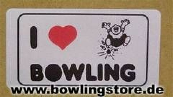 "Sticker ""I love Bowling"""