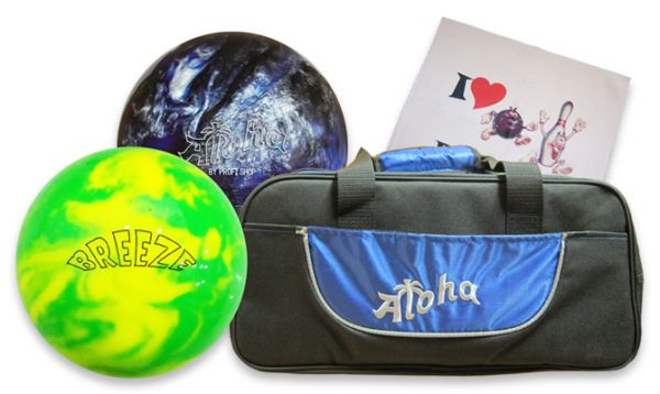 Aloha Reactive Double Premium Bowling Set