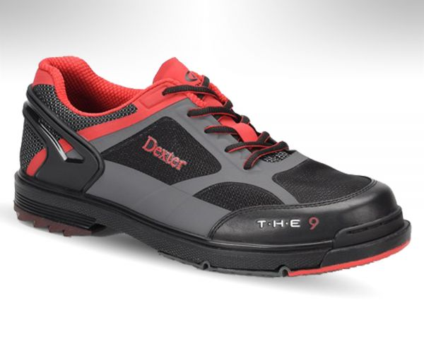 Dexter Mens THE 9 HT Black//Red//Grey Bowling Shoes