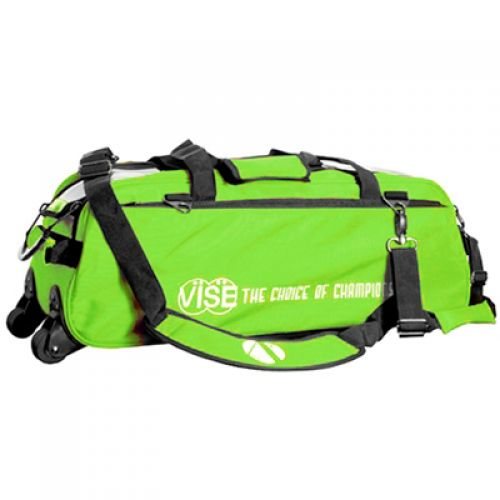 Vise Grip 3-Ball Clear Top Tote Roller green