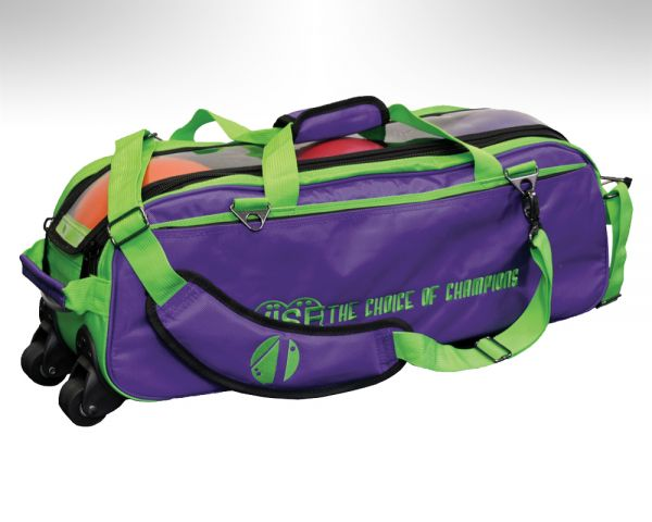 Vise Grip 3-Ball Clear Top Tote Roller green/purple