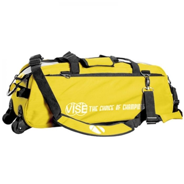 Vise Grip 3-Ball Clear Top Tote Roller yellow