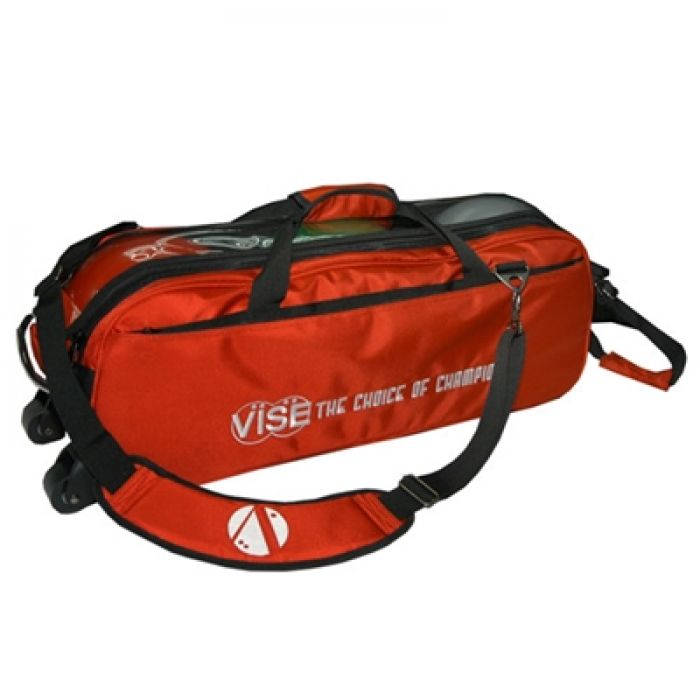 Vise Grip 3-Ball Clear Top Tote Roller red