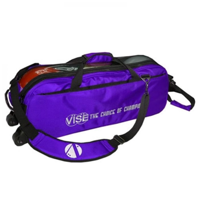 Vise Grip 3-Ball Clear Top Tote Roller purple