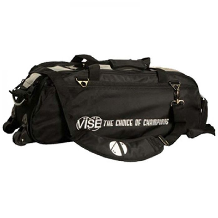 Vise Grip 3-Ball Clear Top Tote Roller black