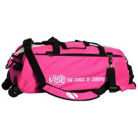 Vise Grip 3-Ball Clear Top Tote Roller pink
