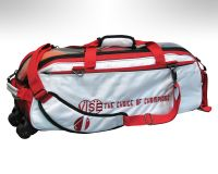 Vise Grip 3-Ball Clear Top Tote Roller white/red